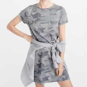 Abercrombie & Fitch gray camo t shirt mini dress